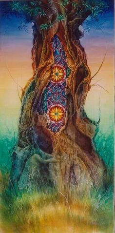Visionary tree of life Art Conceptual, Psy Art, Mystique, Visionary Art, Sacred Art, Psychedelic Art, Tree Art, Tree Of Life, Sacred Geometry