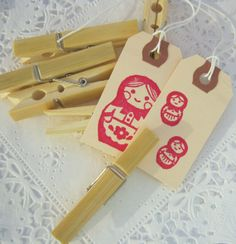 Earth Friendly Bamboo Clothespins Sustainable by MoonParade, $8.00