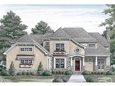 Eplans Craftsman House Plan - Arts and Crafts - 5319 Square Feet and 4 Bedrooms(s) from Eplans - House Plan Code HWEPL13401