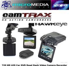 CamTRAX Car Dash Cam HD DVR Road Video Camera Night Vision LED Screen Mount Kit  #CamTRAX