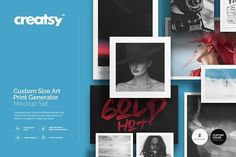 Custom Size Art Print Generator by Creatsy on @creativemarket
