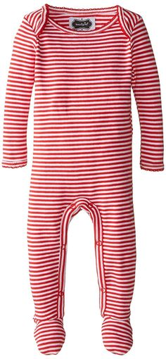 3824daad8be Mud Pie Baby Holiday Red Stripe Footed Sleeper