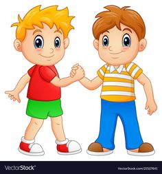 Cartoon little boys shaking hands vector Preschool Rules, Body Preschool, Summer Camp Crafts, Camping Crafts, Abacus Math, Artsy Background, Baby Quiet Book, School Clipart, First Birthday Photos