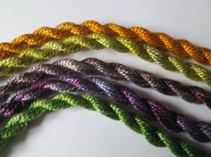 Purple Green Golden Yellow Unique Perle Collection by sassalynne, $10.00