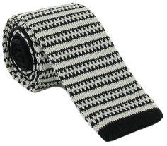 Wine//White Michelsons of London Mens Zig Zag Silk Knitted Skinny Tie