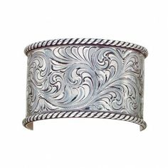 Wide Rope Edge Roller Bangle Bracelet (BC1226) - Bracelets - Jewelry - Jewelry & Gifts | Montana Silversmiths