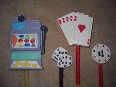 1 Dog Safe Chocolate casino cards slot machine chips rawhide lollipop lollipops
