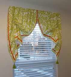 Window treatment with Italian Stringing.  This was featured in an article for Drapery & Design Professional magazine, by Susan Woodcock.