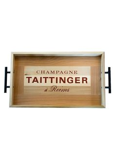 French Champagne Crate Serving Tray- Taittinger