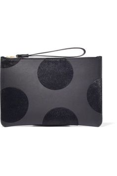 Sophie Hulme | Talbot polka-dot calf hair and leather pouch | NET-A-PORTER.COM