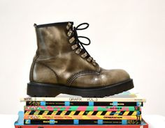 Amazing 90s Dr. Martens Boots Size Women 9 1/2 10 by Hookedonhoney