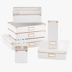 Desk Organizers Accessories Desktop Pencil Holders The With White Organizer Remodel 12 Office Setup, Desktop Organization, Home Office Organization, Office Storage, Storage Boxes, Office Decor, Desktop Storage, Office Ideas, Magazine Files