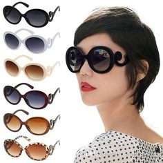 7035a5b8f80 New Fashion Retro Summer Vintage Cool Women Girls Butterfly Clouds Arms  Cute Big Frame Goggles Shades Round Sun Glasses UV400 Sun Glasses Eyewear  From ...