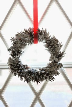 Whether they sparkle, jingle or are just plain pretty, you'll want to keep these unique Christmas wreaths up all year long. From DIY wreaths to options you can buy, there's a wreath in every style imaginable here. Pine Cone Decorations, Christmas Decorations, Christmas Holidays, Christmas Crafts, Christmas Ideas, Thanksgiving Crafts, Christmas Activities, Homemade Christmas, Christmas Recipes