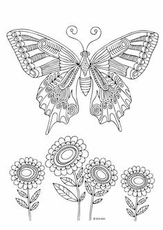 Unique Butterfly Coloring Book 97 Kittens and Butterflies