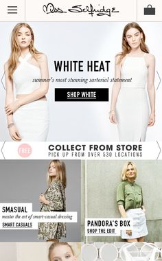 PROMOTION - I would use the Miss Selfridge website to promote the range, using the home page to advertise it