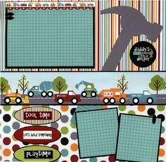 Daddy's Little Helper - 12x12 Premade Scrapbook Page