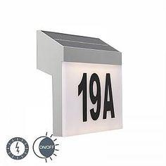 Solar House Numbers, Led, Flip Clock, Home Decor, Solar Energy, Motion Detector, Wall Sconce Lighting, Decoration Home, Room Decor