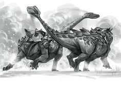Ankylosaurus Battle by Tiffany Turrill  http://tiffanyturrill.com/