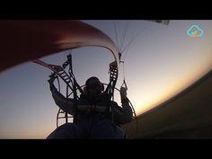 Powered Paragliding Byte - Sunset Joy - YouTube