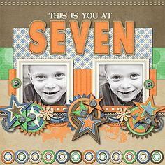 'Seven'⊱✿-✿⊰ Follow the Scrapbook Pages board visit GrannyEnchanted.Com for thousands of digital scrapbook freebies. ⊱✿-✿⊰