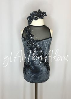 Stunning custom leotard, perfect for acro, jazz, musical theater or contemporary! One of a kind!