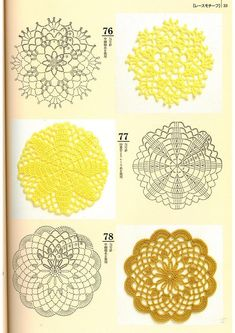 Crochet Patterns Book Motifs Edgings - 蒙 - Picasa Web Albums Baby Afghan Crochet Patterns, Crochet Coaster Pattern, Crochet Doily Diagram, Crochet Flower Patterns, Crochet Chart, Crochet Squares, Crochet Doilies, Crochet Flowers, Small Crochet Gifts