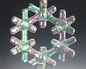 CRYSTAL Iridized Fused Glass Snowflake Ornament Suncatcher