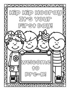 ***FREE*** Back to school welcome poster for Preschool