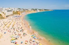 Cheap getaways: You could be sunning yourself for less in resorts like Portugal's Algarve - via Daily Mirror 29.04.2015 | southern Portugal's Algarve region is the area that's seen the biggest drop in prices for British holidaymakers. Costs have fallen 22 per cent compared to last year according to the Post Office's latest Holiday Money report. Photo: Albufeira Beach in Algarve, Portugal