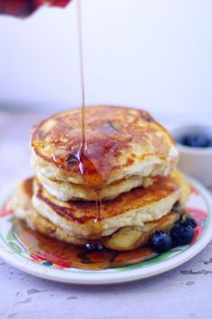 Quinoa Blueberry Pancakes
