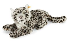 This is Paddy the gorgeous Snow Leopard soft toy made by the famous German Bear maker - Steiff. He is made using cuddly soft light grey spotted plush with airbrushed shading. In his ear he has the Steiff Teddy Hermann, Jaguar Leopard, Giant Stuffed Animals, Soft Toys Making, John Wright, Charlie Bears, Childhood Toys, Snow Leopard, Plush Animals