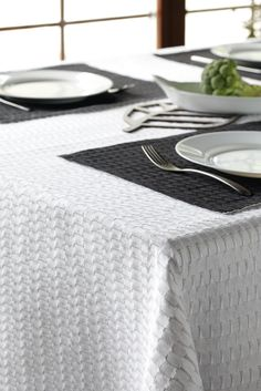 FLY is authentic and elegantly nordic collection. FLY is a thoroughly natural interior textiles collection woven from linen and cotton. It is textured, sheer and reversible. Product range includes pillowcases and coverlets; tablecloths, runners, tablemats and baskets, in different colors combining white, gray and black. #habitare2014 #design #sisustus #messut #helsinki #messukeskus