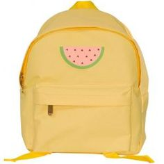 Cool, yellow backpack with a nice watermelon on it from A Little Lovely Company. Made of sturdy material, lined with nylon, padded adjustable Nylons, Toddler Backpack, Small Backpack, Yellow Backpack, Little Backpacks, A Little Lovely Company, Little Girl Gifts, Little Fashionista, Herschel Heritage Backpack