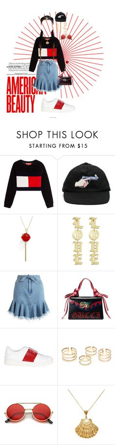 """""""ruby woo"""" by ambigious ❤ liked on Polyvore featuring Off-White, Simone I. Smith, Zimmermann, Gucci, Valentino, ZeroUV and Ottoman Hands"""