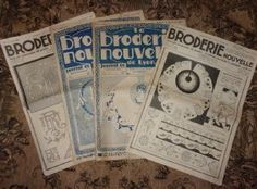 LOT DE 4 REVUES ANCIENNES . BRODERIE NOUVELLE Embroidery Books, Textiles, Personalized Items, Boutique, Cloths, Fabrics