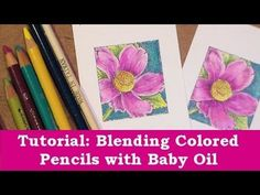 Color Pencil Drawing Ideas Using Baby Oil to blend colored Pencils. The idea is quite simple: Draw with pencils and use paper stomp with some baby oil to blend the colors - Pencil Drawing Tutorials, Art Tutorials, Pencil Drawings, Drawing Ideas, Watercolor Tutorials, Colored Pencil Tutorial, Colored Pencil Techniques, Blending Colored Pencils, Color Blending