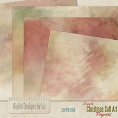 Christmas Simple Soft Art Paper Pack