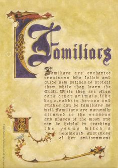 book of shadows pages to print | Image - FAMILIARS.jpg - Charmed Wiki - For all your Charmed needs!