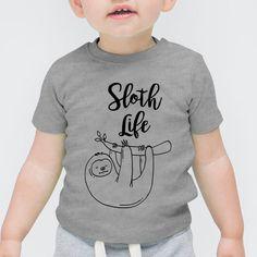 Sloth Life | Mama, Slogan, Quote First Baby Short Sleeved Onesie Vest Toddler, T-Shirt, Tee, Hipster, Illustration, Cute Funny Slogan Gift Tumblr Blog, Boy, Girl, Summer, Mum, Dad