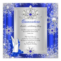 Shop Quinceanera 15 Birthday Party Royal Blue Heels 2 Invitation created by Zizzago. Quinceanera Invitations, Quinceanera Party, Birthday Party Invitations, Wedding Invitations, Quinceanera Planning, Anniversary Invitations, Blue Birthday Parties, 15th Birthday, Royal Blue Heels