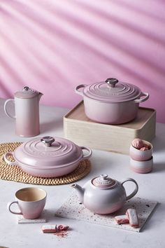 New Shell Pink has been inspired by the soft tones of seashells, capturing the essence of romance and summer sunsets. Add an elegant blush to the kitchen and the home with Shell Pink from Le Creuset, launching in store and online at www.lecreuset.co.za from 14th February 2020. Le Creuset Pink, Summer Sunset, Seashells, Pink Grey, Cookware, Sunsets, Food Photography, Home Improvement, February