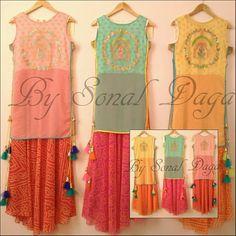 #designer #fashion #leheriya #bandni #floorlength #kurti #gown #Indowestern