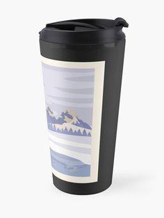 """Glacier Mountain Ranges"" Travel Mug by Joshua1870   Redbubble Mountain Range, Winter Day, Ranges, Travel Mug, Landscape Design, Canvas Prints, Mugs, Photo Canvas Prints, Cups"