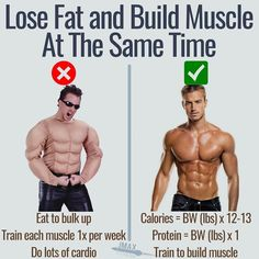 """HOW TO LOSE FAT AND BUILD MUSCLE AT THE SAME TIME - Ahh the holy grail of fitness. Is it really possible to build muscle and lose fat at the same time? - The answer is """"yes"""". The newer you are to training and nutrition the easier this goal is. In fact most newbies can easily lose 5-10lbs of fat and gain 20-30lbs of muscle in a single year. - As you train more this goal is more difficult but not impossible. It's easier to lose more fat than the amount of muscle you build. This means that the…"""