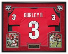 Todd Gurley Georgia Bulldogs Autographed - Jersey Framed - JSA COA. Great for any fan room, office, man cave or DAWGS HOUSE! #ToddGurley #TG3 #GeorgiaBulldogs #GoDAWGS #DAWGS #ManCaveDecor #GeorgiaAutographs