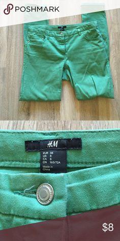 H&M Green Straightleg Jeans H&M Green Straightleg Jeans H&M Jeans Skinny