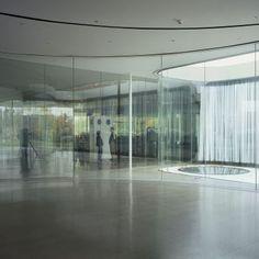 Glass Pavilion at the Toledo Museum of Art: Architect: SANAA Location: Toledo, Ohio, USA  Built area: 7,000sqm  Site area: 20,000sqm