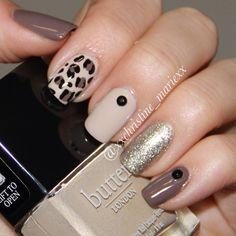 Beige :  Butter London Cuppa Taupe : Chanel Particuliere  Black : p2 eternal  Glitter : Essie Beyond Cozy - @xxchristine_mariexx