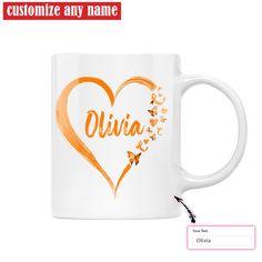 Peace Love Cure Custom Multiple Sclerosis Mug, MS Awareness Mug, Multiple Sclerosis Awareness Gift - 11oz